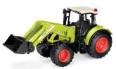 Claas Traktor med frontlastare och skopa.