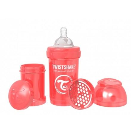 Twistshake Nappflaska Anti-Kolik-180ml, Pearl Röd