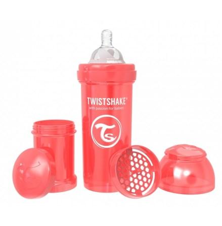 Twistshake Nappflaska Anti-Kolik-260ml, Pearl Röd