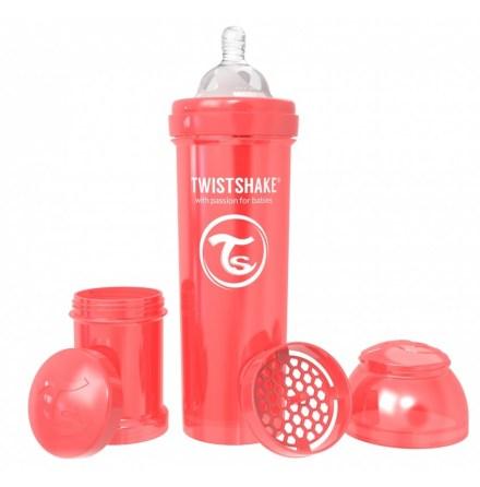 Twistshake Nappflaska Anti-Kolik-330ml, Pearl Röd