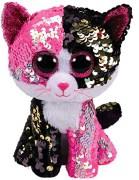TY Flippables Malibu Rosa/Svart Paljett Katt