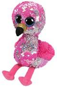 TY Flippables Pinky Rosa Paljett Flamingo