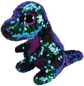 TY Flippables Crunch Grön/Lila Paljett Dinosaurie