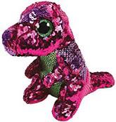 TY Flippables Stompy Rosa/Grön Paljett Dinosaurie