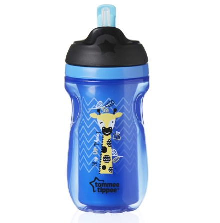 Tommee Tippee Insulated Straw Cup Blå 260ml, 12mån+