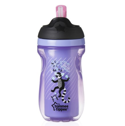 Tommee Tippee Insulated Straw Cup Lila 260ml, 12mån+