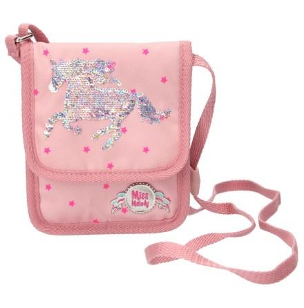 Miss Melody Väska liten med paljetter, Rosa