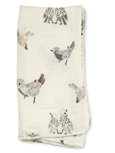Bamboo Muslin Blanket, Feathered Friends