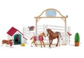 Schleich Horse Club Hannahs gästhästar med tiken Ruby