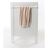 Babygreen Cool Stripe Filt, Brun/Vit