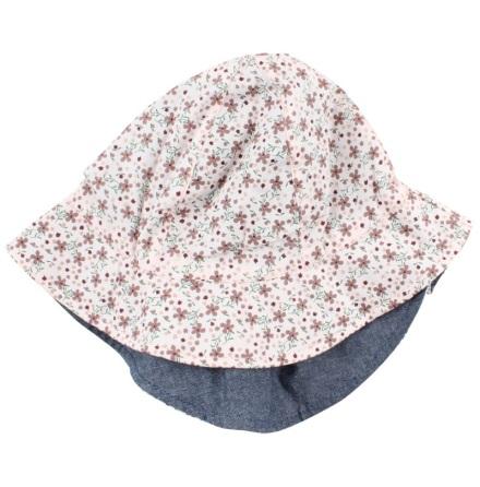 Nordic Label Vändbar Hatt, Blommig/Jeans