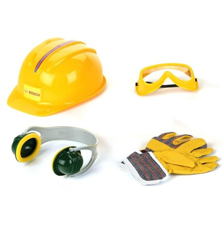 Bosch skyddsutrustning hjälm, handskar, glasögon