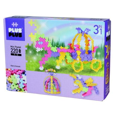 Plus Plus Mini Pastel Fairytale, 220 bitar 3i1