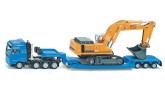 Siku Lastbil Transport med Trailer och Grävmaskin 1:87