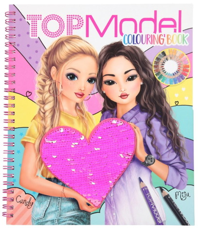 TOPModel Målarbok med paljetter