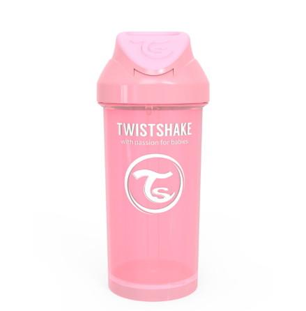 Twistshake Spillfri Sugrörsmugg 360ml, Rosa