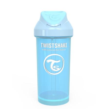 Twistshake Spillfri Sugrörsmugg 360ml, Blå