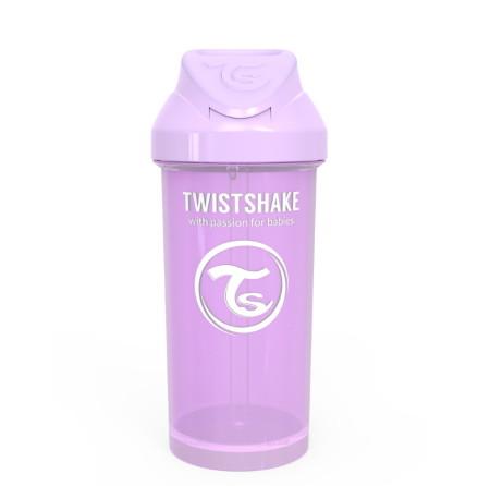 Twistshake Spillfri Sugrörsmugg 360ml, Lila