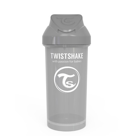 Twistshake Spillfri Sugrörsmugg 360ml, Grå