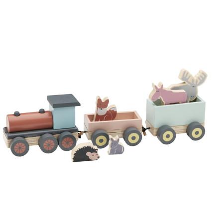 Kid's Concept Tåg med djur EDVIN