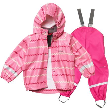 Slaskeman mönstrat barnset, Pink zigzag