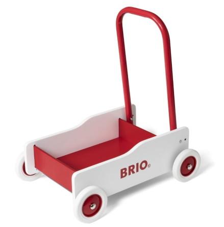 BRIO Lära-gå-vagn, Vit/Röd