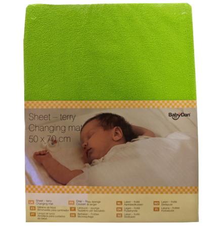 BabyDan Överdrag för Skötbädd 50x70cm, Lime