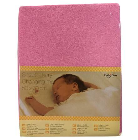 BabyDan Överdrag för Skötbädd 50x70cm, Rosa