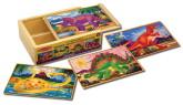 Melissa & Doug Dinosaurs Jigsaw Puzzles in a Box