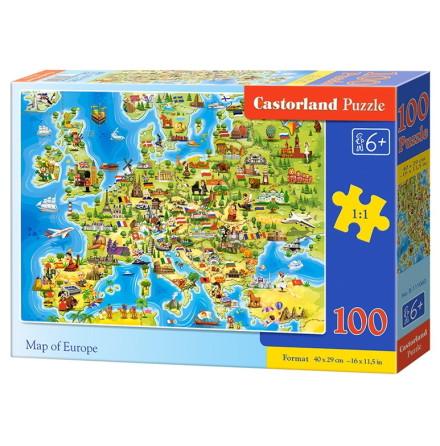 Map of Europe, Pussel, 100 bitar