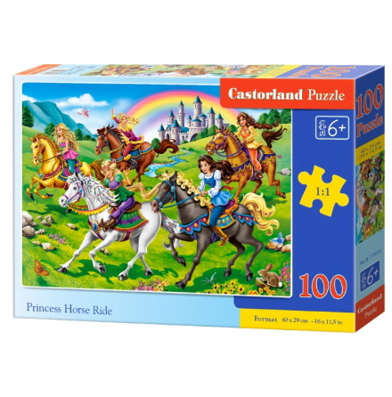 Princess Horse Ride, Pussel, 100 bitar
