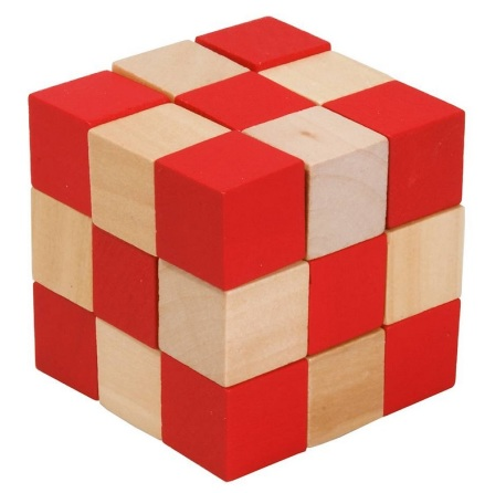 Orm-kub, röd/naturfärgad