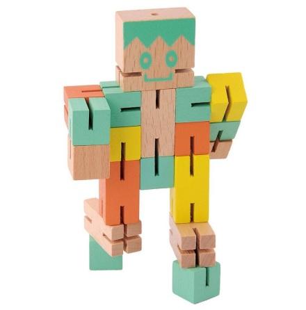 Puzzle Boy, grön, orange, gul, Svårighetsgrad 4/5