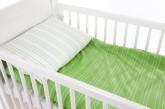 Babygreen Bäddset Jersey, Grön/Vit randig