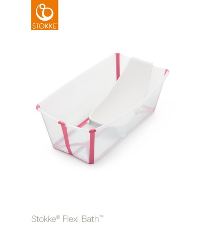 Stokke Flexi Bath Bundle, Transparent Pink