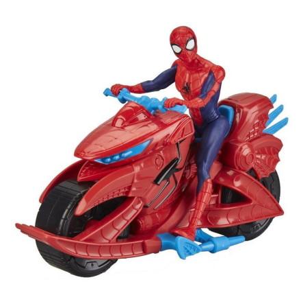 Marvel Spider-Man figur med motorcykel