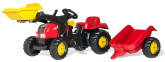 Rolly Toys rollyKid-X Traktor med skopa, Röd