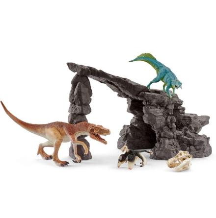 Schleich Dinosauriesats med grotta