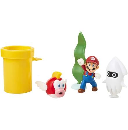 Super Mario Underwater Diorama Set