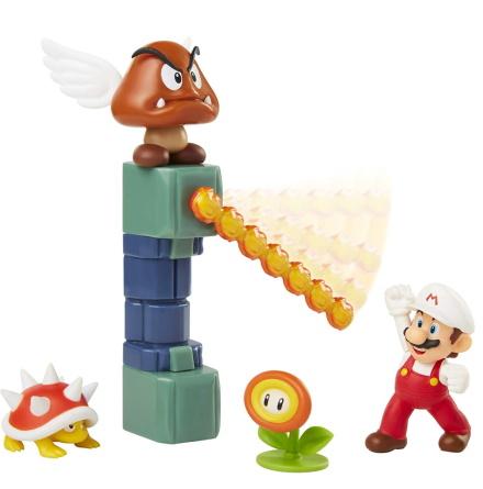 Super Mario Lava Castle Diorama Set