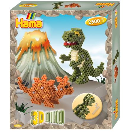 Hama Midi Presentbox 3D Dino 2500 Pärlor