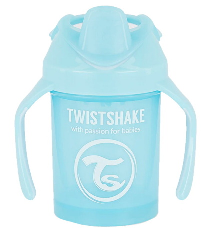 Twistshake Mini Cup 4+ mån 230ml, Babyblå