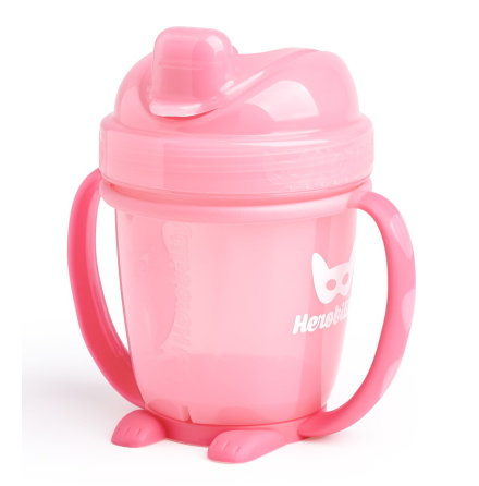 HeroBility Sippy Cup 140ml, Rosa