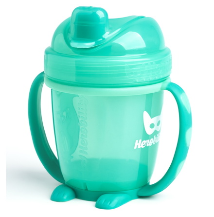 HeroBility Sippy Cup 140ml, Turkos
