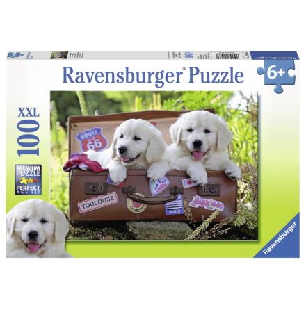 Travelling Pups XXL, 100bitar, Ravensburger