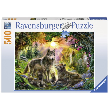 Wolf Family in the Sunshine, 500bitar, Ravensburger