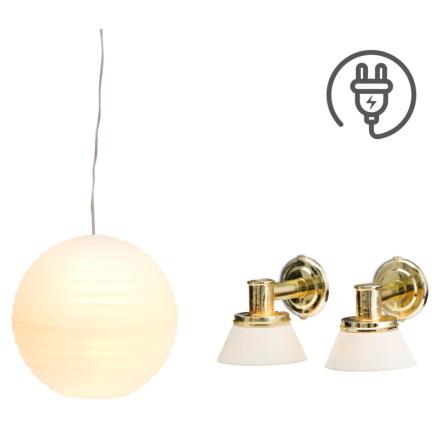 Lundby Ris + 2 Vägglampor
