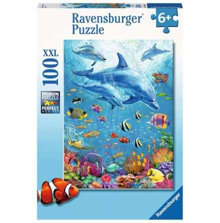 Pod of Dolphins XXL, 100bitar, Ravensburger