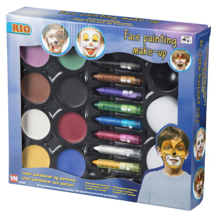 Rio Face Painting Make-up, 8 färger