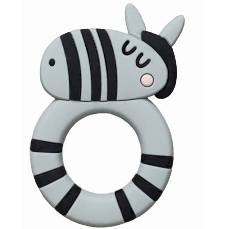 Rätt Start Bitleksak i Silikon, Zebra